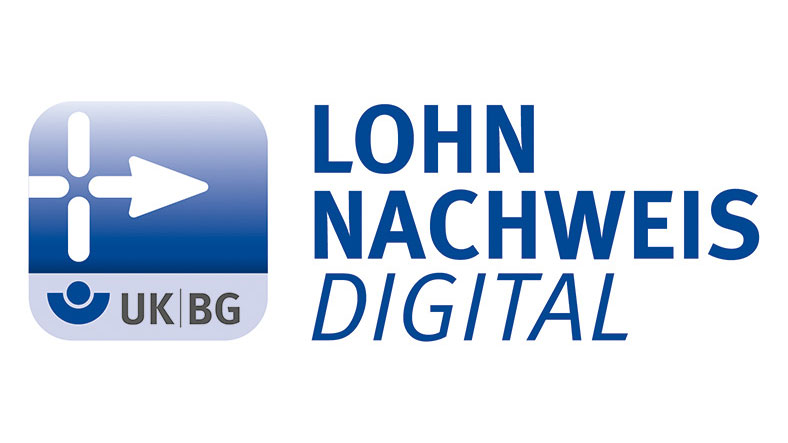 Logo Digitaler Lohnnachweis der UK/BG